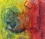 Marina Berra, I will survive, 2012, tecnica mista su tela, 60x60 cm