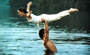 UK, EIRE, TURKEY, SOUTH AFRICA, HONG KONG, CROATIA ONLY No Merchandising. Editorial Use Only  Mandatory Credit: Photo by Everett Collection / Rex Features ( 432873y )  JENNIFER GREY AND PATRICK SWAYZE IN 'DIRTY DANCING' - 1987  PATRICK SWAYZE