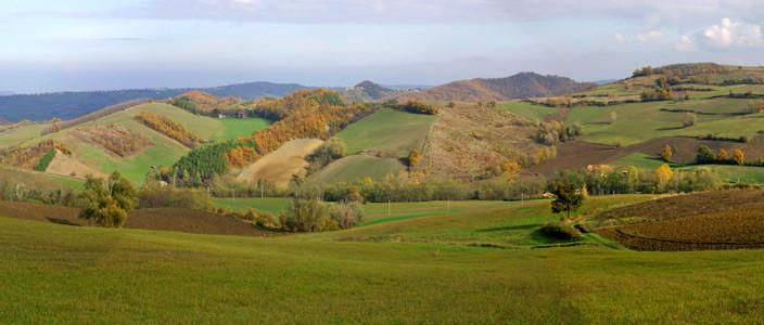 Oltrepo Pavese panorama