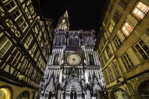 illuminations de la Cathédrale de Strasbourg- Emmanuel VIVERGE
